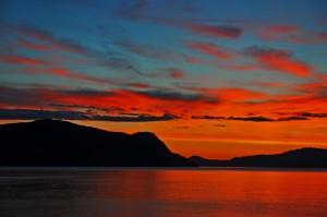 Hjelmeland solnedgang